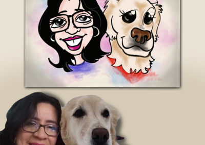 With every pet portrait order placed, your artwork will be added to a number of products that will be available for purchase.