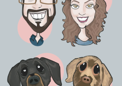 Because you don't have one, yet... OR... you have several Canine Caricatures drawn by John LaFree, but need another!
